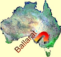 Ballarat is located 110 kms north-west of Melbourne