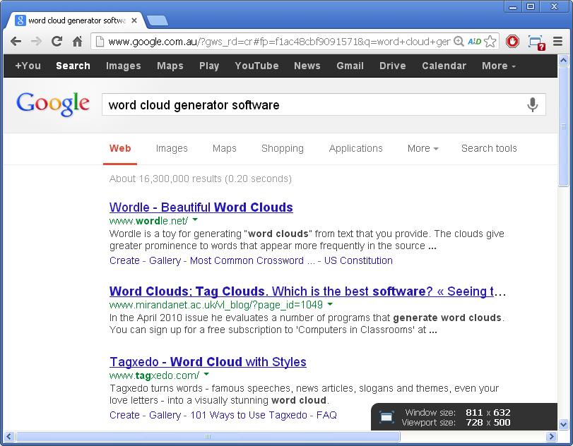google word cloud generator